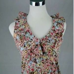 Ralph Lauren Womens Floral Sleeveless V Neck